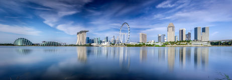 Landscape of Singapore city. In day morning time Stock Image