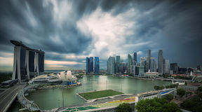 Landscape of Singapore city in day morning time. Stock Images