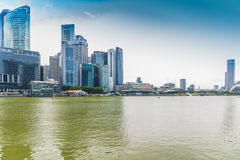 Landscape of Singapore city financial district Stock Photo