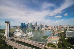 Landscape of Singapore city Royalty Free Stock Photos