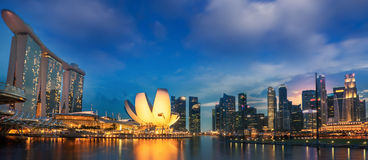 Landscape of Singapore city Stock Image