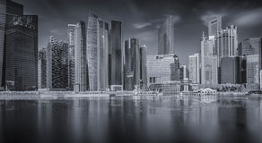 Landscape of the Singapore financial district Stock Image