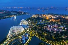 Landscape of Singapore harbor Stock Photography