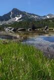 Landscape of Sivrya peak and Banski lakes, Pirin Mountain Stock Images