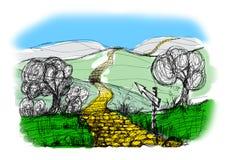 Landscape sketch Stock Photography