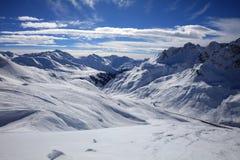 Landscape at Ski Resort in Arlberg Mountains. Austria Stock Photos