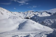 Landscape at Ski Resort in Arlberg Mountains. Austria Stock Images