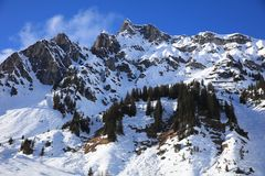 Landscape at Ski Resort in Arlberg Mountains. Austria Royalty Free Stock Image