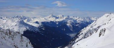 Landscape at Ski Resort in Klostertal Mountains Stock Image