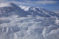 Landscape at Ski Resort in Klostertal Mountains Stock Images