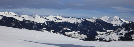 Landscape at Ski Resort in Klostertal Mountains Stock Photos