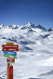 Landscape and ski resort Val d& x27;isere and Killy space, Tarentaise, France Stock Photography