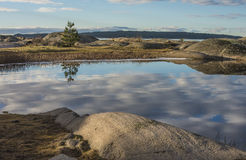 Landscape, Skjebergkilen. Skjebergkilen is an archipelago landscape located just outside Halden, Norway with small islets and reefs. The area is often used for Royalty Free Stock Photo