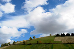 Landscape with sky and clouds Royalty Free Stock Images