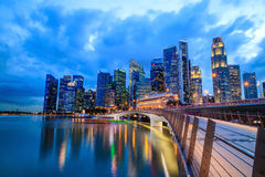 Landscape of skyline Singapore financial district Stock Photography