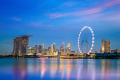 Landscape of skyline Singapore financial district Royalty Free Stock Photography
