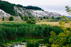 Landscape. With the sliding plains and vegetation stock image