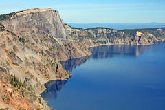 The slope of Crater Lake Royalty Free Stock Photos