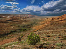 Landscape of the slopes canyon in Ustyurt Stock Photo