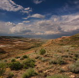 Landscape of the slopes canyon in Ustyurt Stock Images