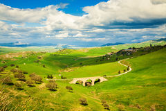 Landscape with small bridge Royalty Free Stock Photos