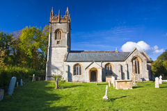 Landscape of small church. The church of saint john the baptist in the parish of hatch beauchamp Stock Photos