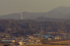 Landscape of small community in Korea secluded in a valley Stock Photography