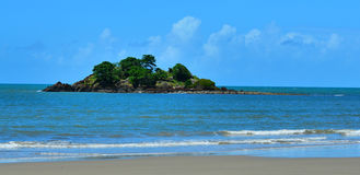 Landscape of a small island in Cape Tribulation Queensland Austr Royalty Free Stock Images