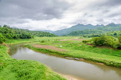 Landscape with small river life, Asia Stock Photography