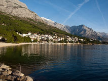 Landscape of small tourist town in Croatia Stock Images
