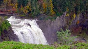 Landscape of Snoqualmie Falls in Washington State, USA.  stock photos