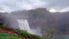 Landscape of Snoqualmie Falls in Washington State, USA.  royalty free stock image