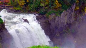 Landscape of Snoqualmie Falls in Washington State, USA.  stock images