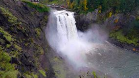 Landscape of Snoqualmie Falls in Washington State, USA.  royalty free stock images