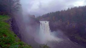 Landscape of Snoqualmie Falls in Washington State, USA.  stock image