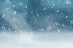 Landscape in the snow. Blue Winter Background Royalty Free Stock Image