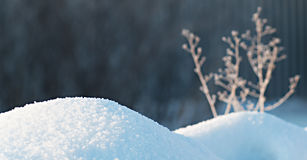 Landscape with snow drifts Royalty Free Stock Photos