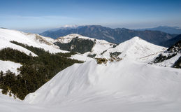 Landscape of snow mountain Stock Image