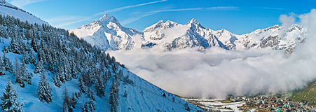 Landscape of snow mountain alps Stock Photography