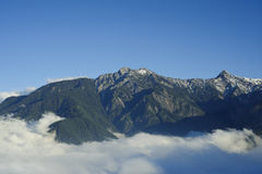 Landscape of snow mountain in Taiwan. Royalty Free Stock Photography