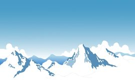 Landscape of snow mountains Royalty Free Stock Images