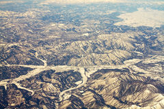 Landscape of snow mountains in Japan near Tokyo Royalty Free Stock Image