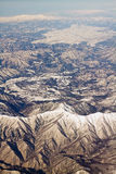 Landscape of snow mountains in Japan near Tokyo Royalty Free Stock Photo