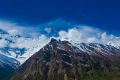 Landscape Snow Mountains Nature Viewpoint.Mountain Trekking Landscapes Background. Nobody photo.Asia Travel Hikking Royalty Free Stock Image