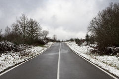 Landscape with snow Stock Photography