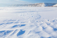 Landscape with snowdrifts Stock Photo