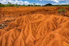 Landscape with Soil Erosion, Kenya Stock Images