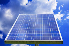 Landscape of solar Panel Against Blue Sky Royalty Free Stock Image