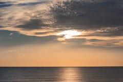 Landscape songkhla sea. Landscape sunrise or sunset at the Songkhla Sea royalty free stock images