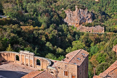 Landscape from Sorano, Grosseto, Tuscany, Italy Royalty Free Stock Photo